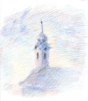 Church of Budaors based on Monet by CyanilurusJubatus