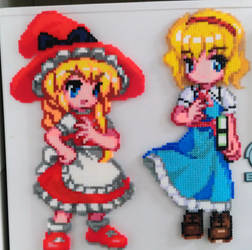 Alice Margatroid and red Marisa Kirisame