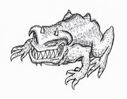 Gauntlet demon sketch.