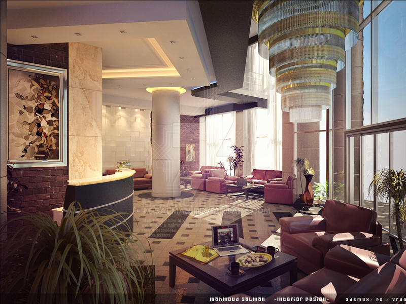 Small hotel entrance design by m salman on deviantart for Hotel entrance decor