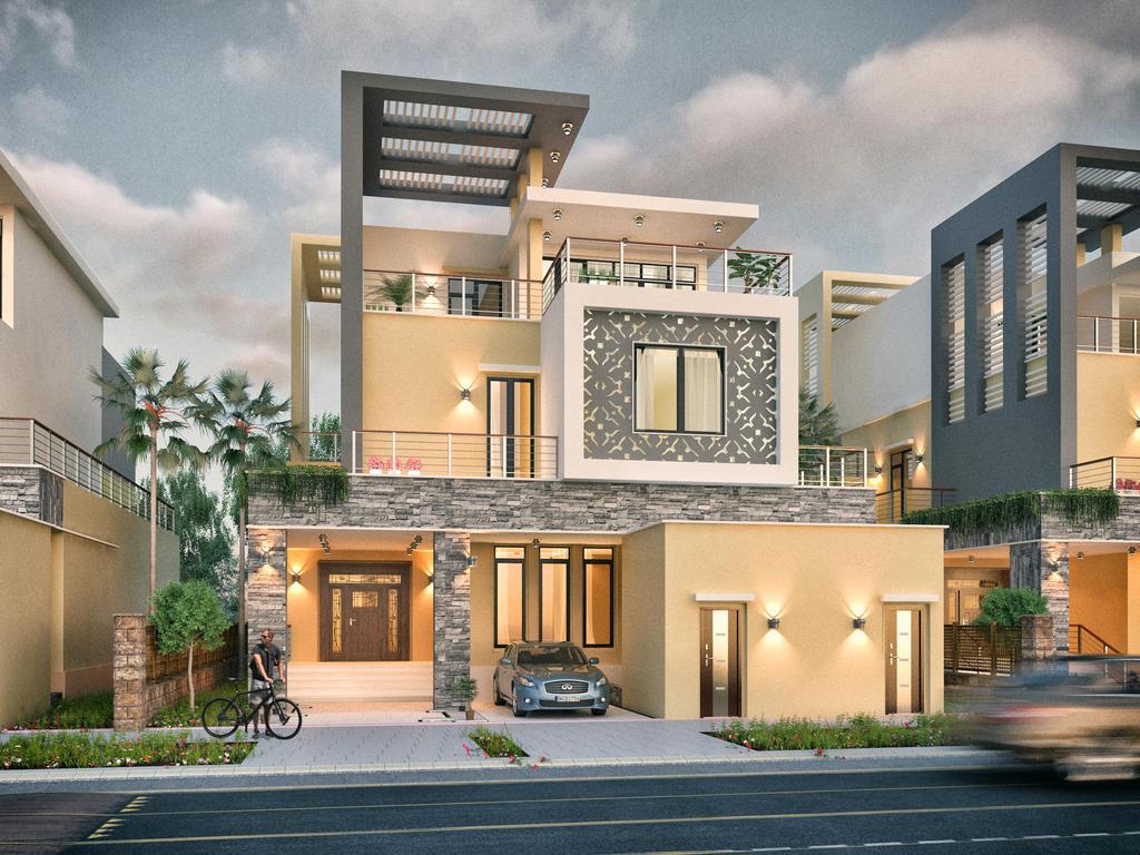 private villa facades design ksa 2 by m salman on