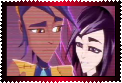 Piper And Cyclonis Stamp by xzahaki