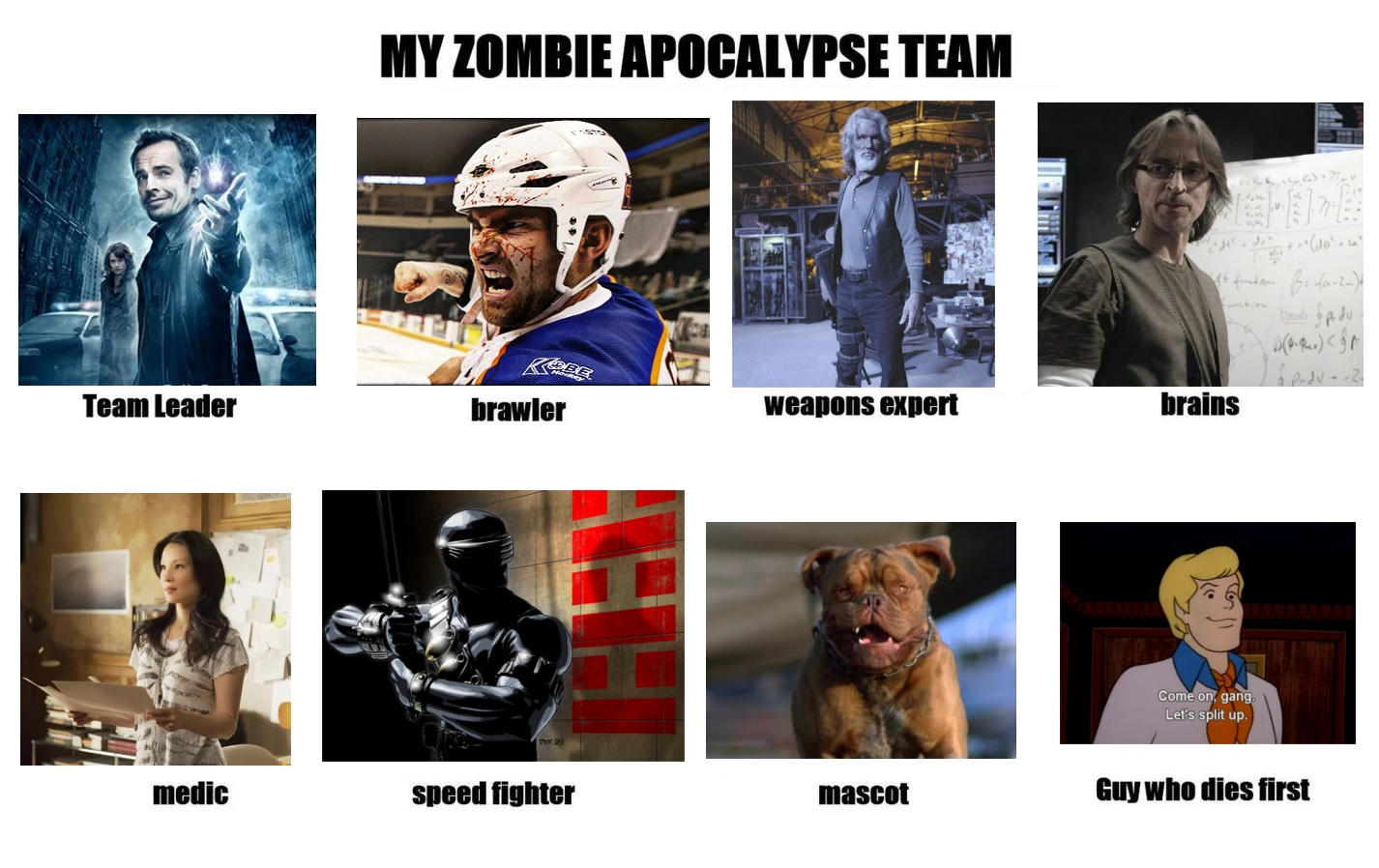 My Zombie Apocalypse Team by Vitacus