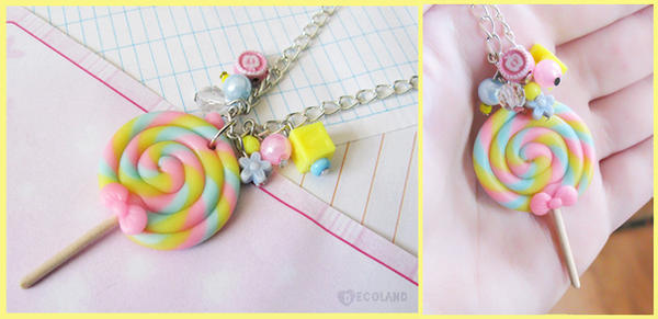 Lollipop charm necklace by decoland