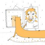 A lion inside Edrac ( by carde-app.com ) by CardeApp