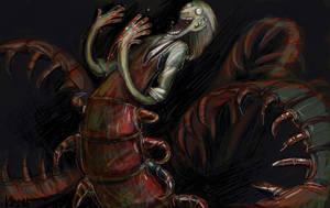 Inhuman centipede by Obman-Veschestv
