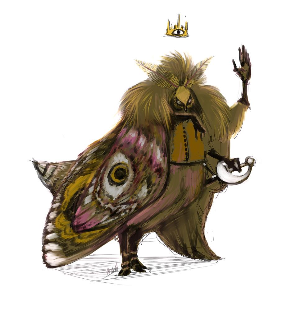 Emperor moth by Obman-Veschestv