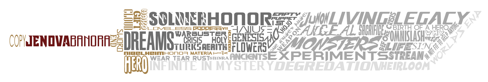 Buster Sword Typography by oracionscruffy