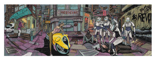 Panoramic final drawing by laourde