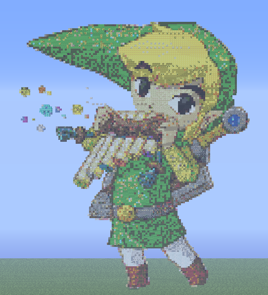 Link Et Son Ocarina Pixel Art By Darkanoth On Deviantart