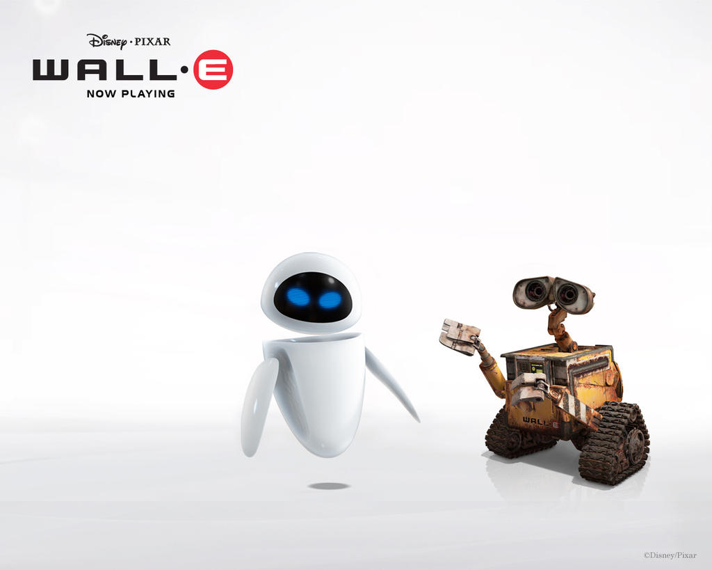 wall-e and eve wallpapertalik13 on deviantart