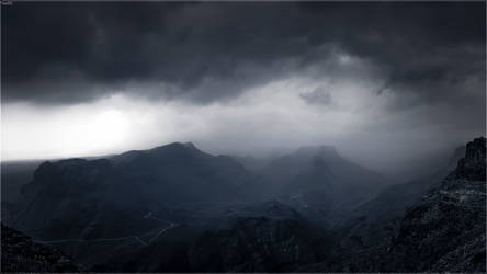 Stormy weather over Fataga