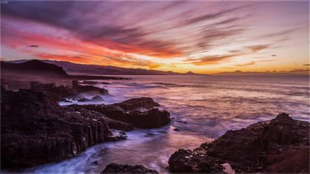 Sunset view from La Isleta