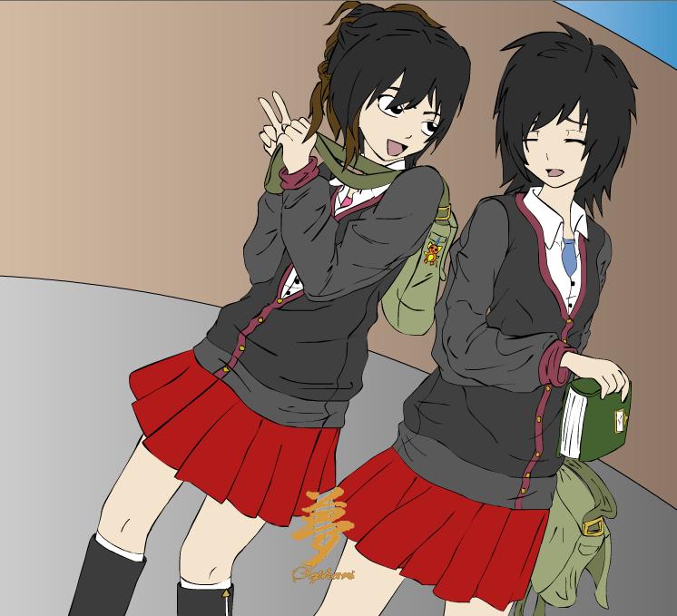 Machiko + Ito - School Days by MinsunWon