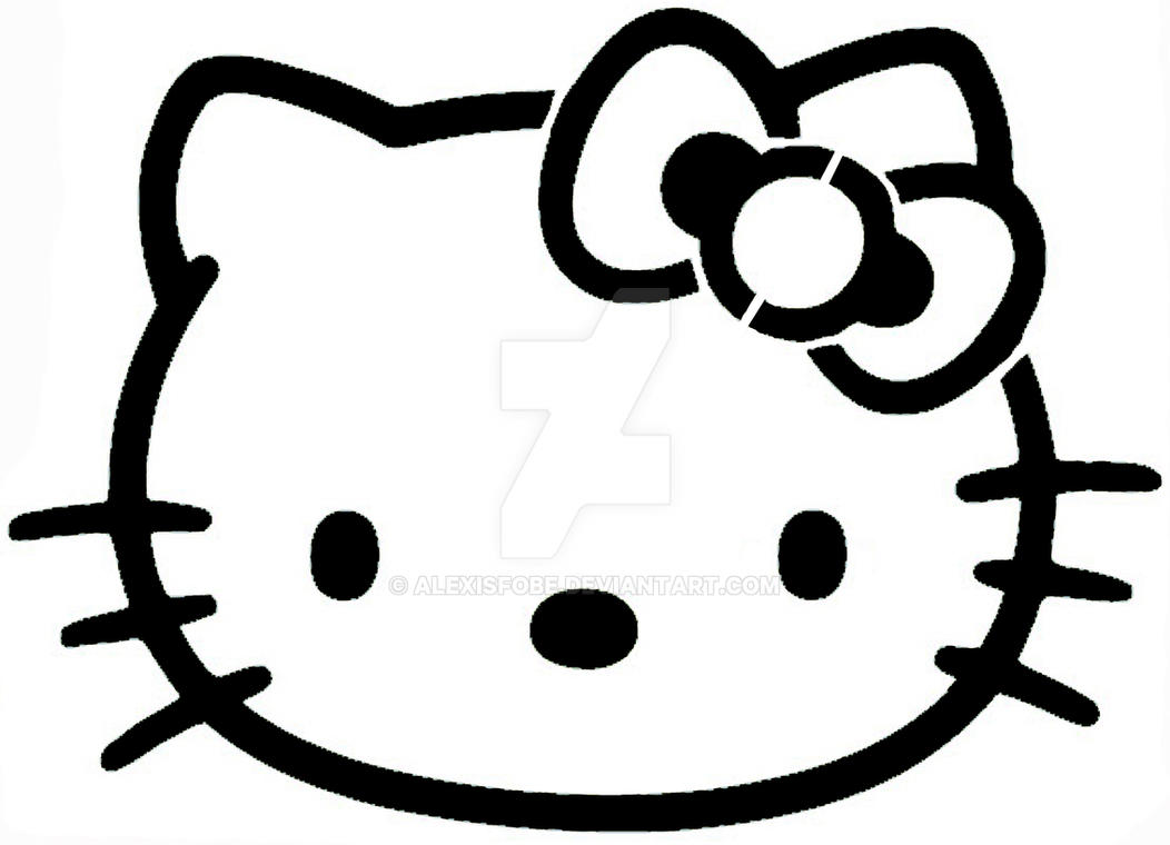 Easy Hello Kitty stencil by AlexisFobe