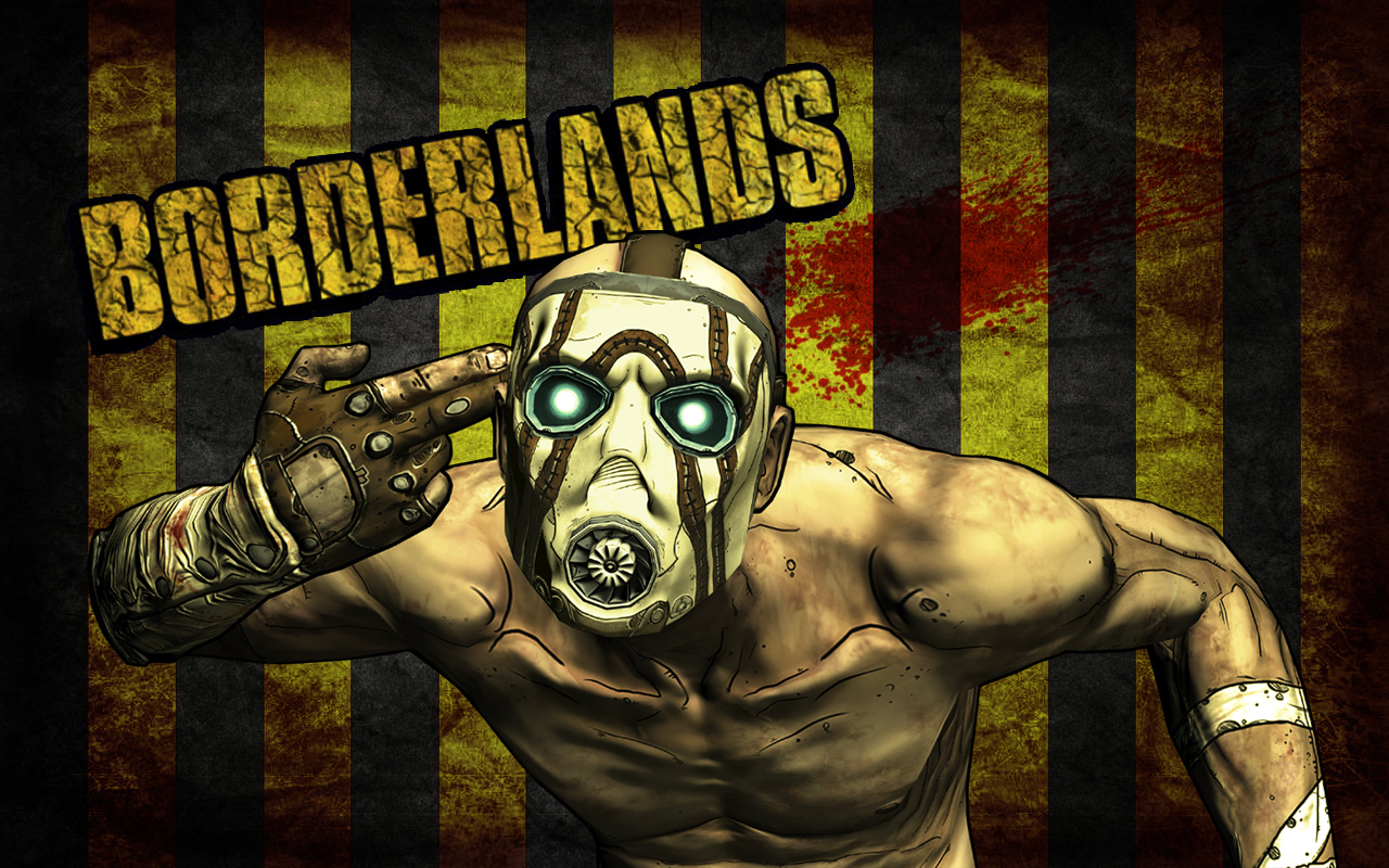 Borderlands Psycho Wallpaper W/ Bloodspatter By Feferest