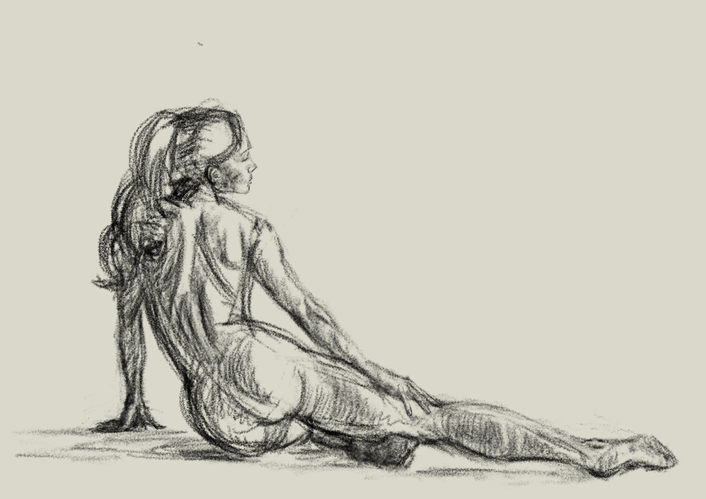 Female figure study by Miziziziz