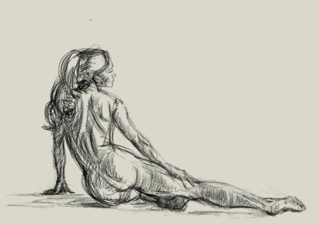 Female figure study by Miziziziz