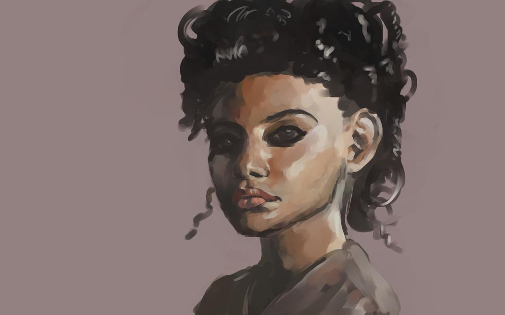 Brown Portrait by Miziziziz
