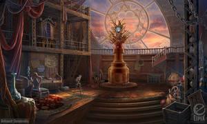 Colossal stage interior - game scene