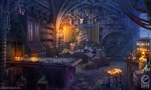 Preparation room - game scene by aleksandr-osm