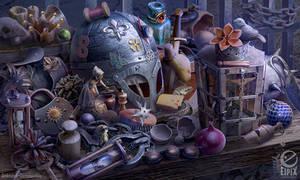 Hidden object scene - Bailiffs table