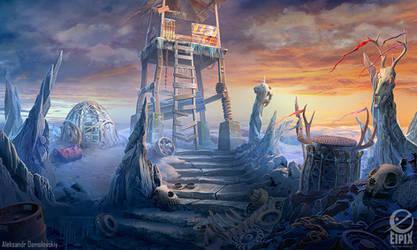 Frostpeak - game scene by aleksandr-osm