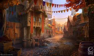 Medieval street - game scene