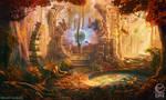 Mountain shrine - game scene