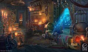 Candle maker shop - game scene