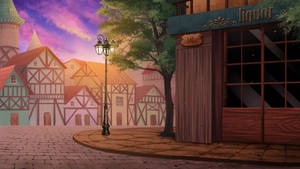 the corner street -  Visual Novel BG