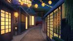 Japanese Town - visual novel BG