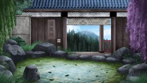 Abadoned Onsen bath - visual novel BG
