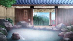 Onsen bath - visual novel BG by gin-1994