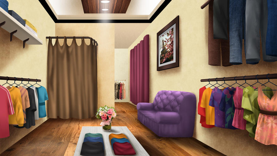 Boutique - visual novel BG by gin-1994