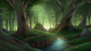 The Forest - visual novel BG by gin-1994