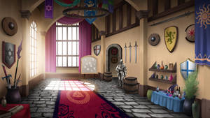 Guild Hall - visual novel BG by gin-1994