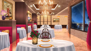 The restaurant -  visual novel BG by gin-1994