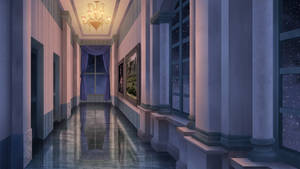 The hallway - Visual novel BG by gin-1994