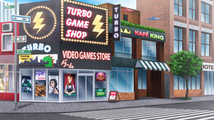 The game shop - visual novel BG