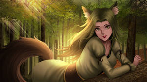The Forest Kitsune by gin-1994