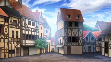Medieval Town - visual novel BG