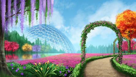 Botanical Garden - visual novel BG
