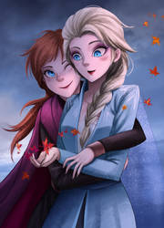 Elsa and Anna by gin-1994
