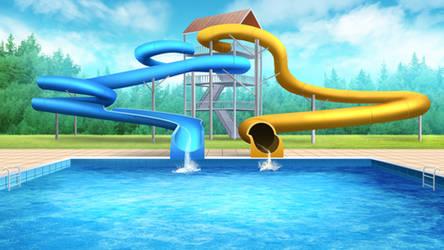 Waterpark - visual novel BG