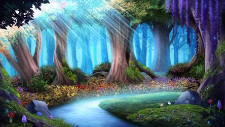 The Forest - visual novel BG