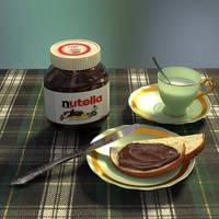 Nutella milk by Ozzik-3d