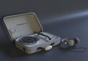 Crosley turntable by Ozzik-3d