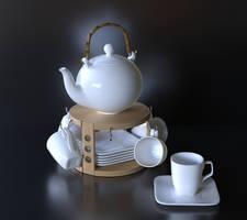 Gift Tea Set 7 by Ozzik-3d