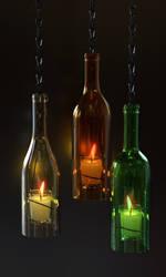 Bottle light fixture by Ozzik-3d